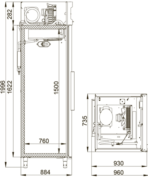 Морозильный шкаф POLAIR CB107-S - 1