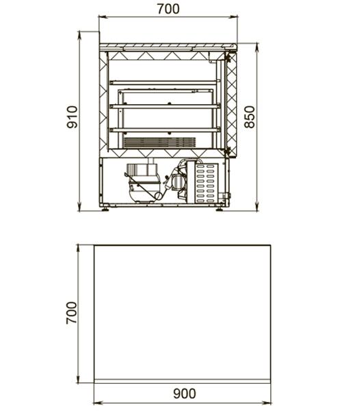 Морозильный стол POLAIR TBi2GN-G - 1