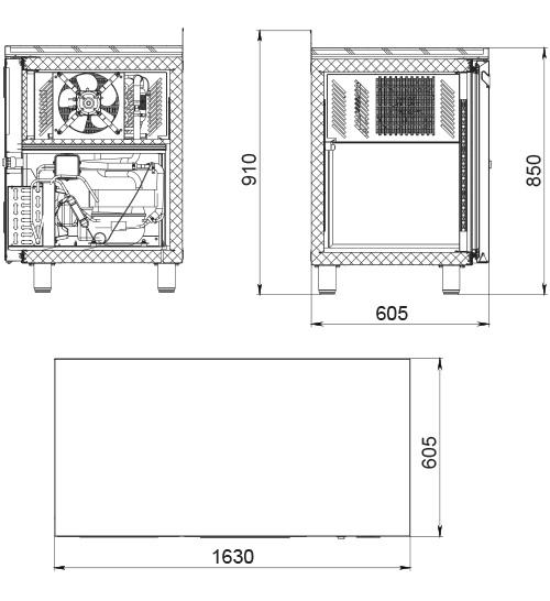 Холодильный стол POLAIR TM3-GC - 1