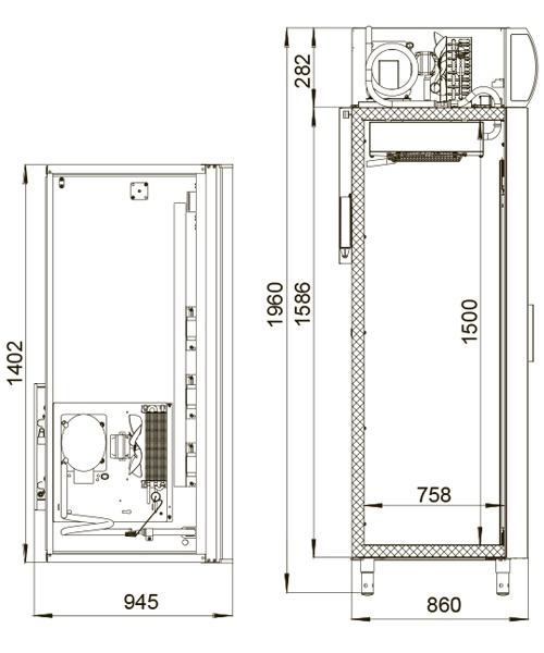 Холодильный шкаф POLAIR ШХФ-1,4 ДС - 1