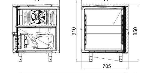 Морозильный стол POLAIR TB4GN-G - 3
