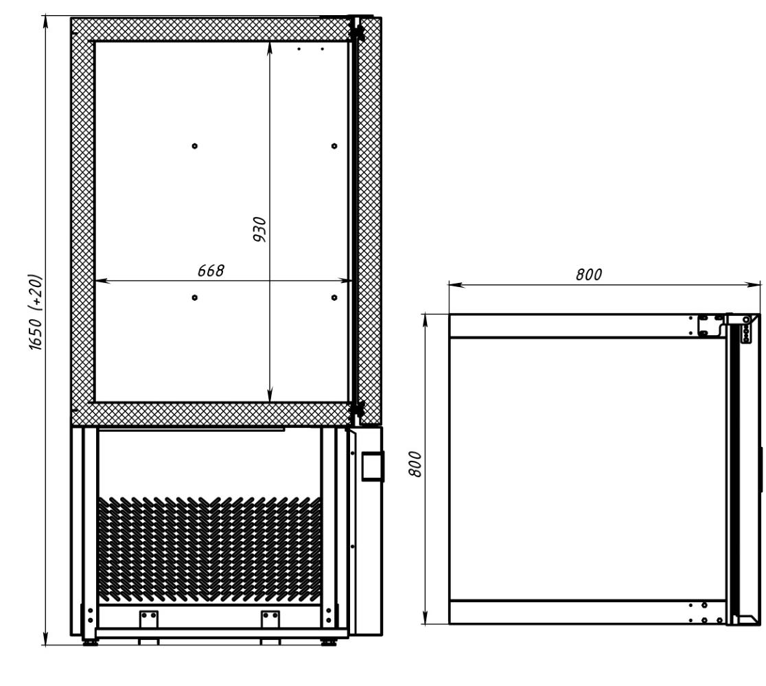 Шкаф шоковой заморозки POLAIR CR10-G - 2