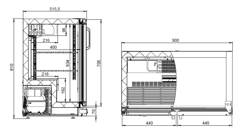Холодильный шкаф (стол) POLAIR TD102-Bar без столешницы - 2