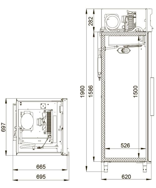 Холодильный шкаф POLAIR ШХФ-0,5 - 1