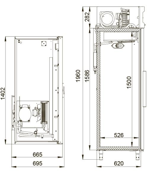 Холодильный шкаф POLAIR ШХФ-1,0 - 1