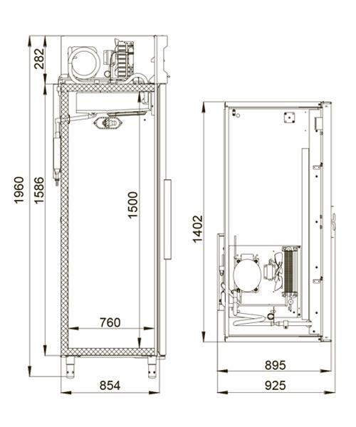 Холодильный шкаф POLAIR CM114-G (ШХ-1,4) - 1