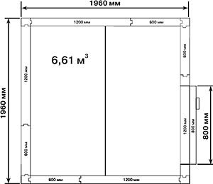 Холодильная камера POLAIR КХН-6,61 - 2