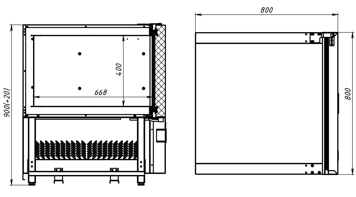 Шкаф шоковой заморозки POLAIR CR5-L - 2