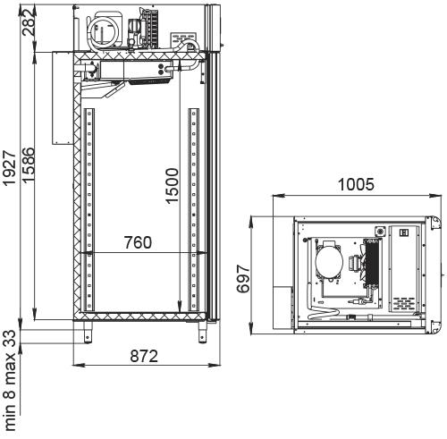Специализированный шкаф для сыра POLAIRCS107-Cheese (со стеклянной дверью) - 2
