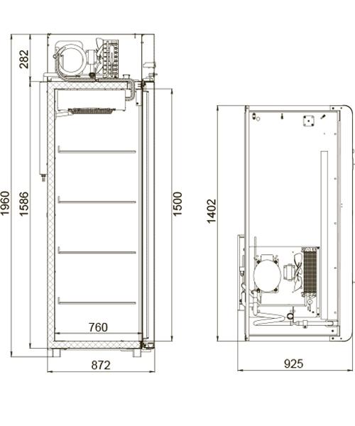 Холодильный шкаф POLAIR CM114-Sm - 1
