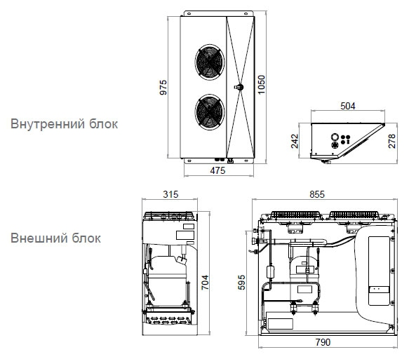 Сплит-система POLAIR SМ226P - 1