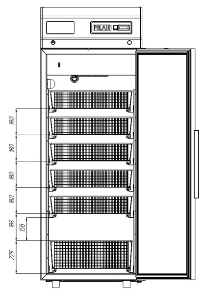 Холодильный шкаф POLAIR ШХФ-0,5 скорзинами - 2