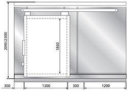 Дверной блок POLAIR с откатной дверью - 1