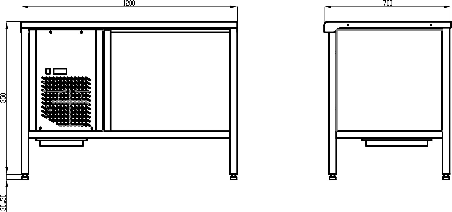 Стол с охлаждаемой столешницей POLAIR TT1.2GN-G - 1