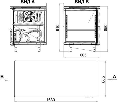 Холодильный стол POLAIR TM3-G - 2