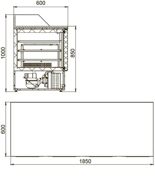 Холодильный стол POLAIR TMi4pizza-G - 1