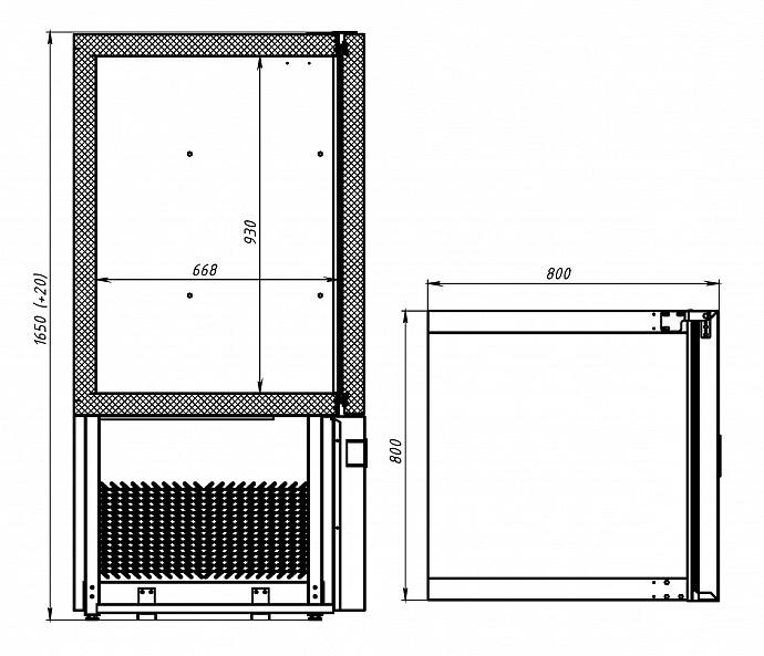 Шкаф шоковой заморозки POLAIR CR7-L - 2