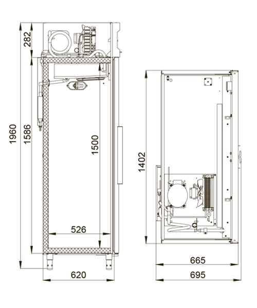 Холодильный шкаф POLAIR CV110-G - 1