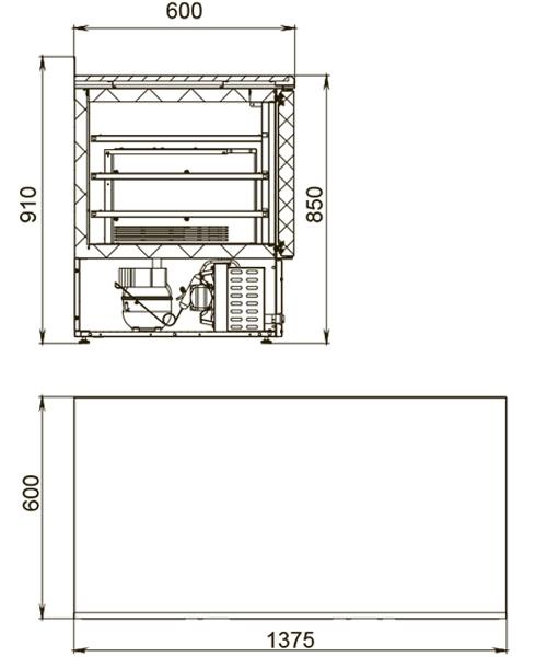 Холодильный стол POLAIR TDi3-G - 1