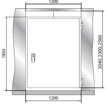 Дверной блок POLAIR с контейнерной дверью - 2