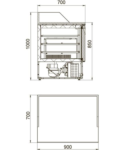 Холодильный стол POLAIR TMi2GNpizza-G - 1