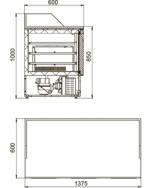Холодильный стол POLAIR TMi3pizza-G - 1