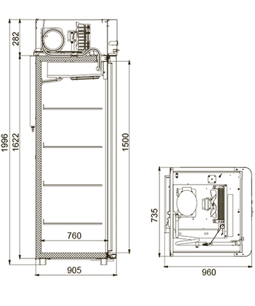 Морозильный шкаф POLAIR CB107-Gm - 2