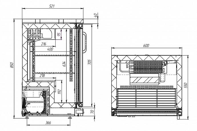 Холодильный шкаф (стол) POLAIR TD101-Grande - 1