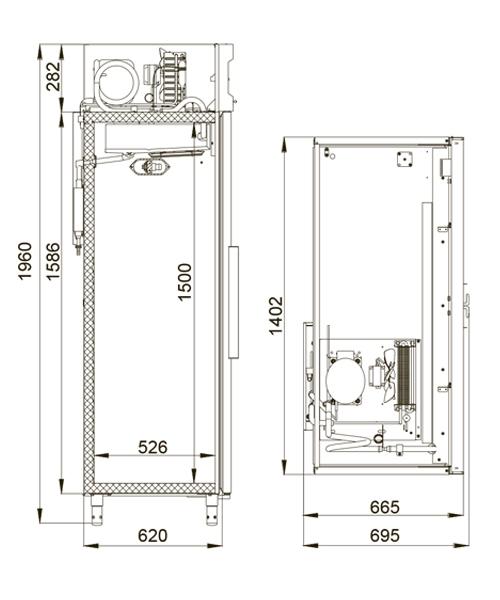 Холодильный шкаф POLAIR CV110-S - 1