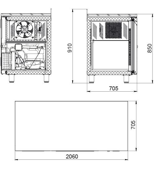 Морозильный стол POLAIR TB4GN-GC - 1