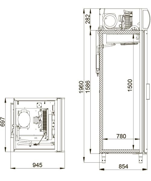 Холодильный шкаф POLAIR ШХФ-0,7 ДС - 1