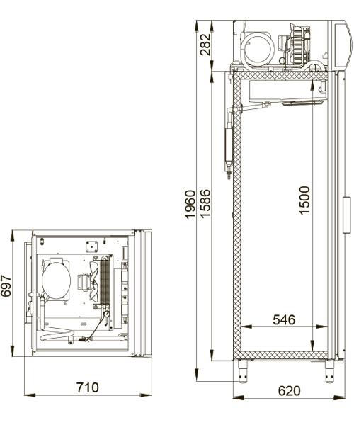 Холодильный шкаф POLAIR ШХФ-0,5 ДС - 1