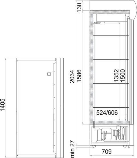 Холодильный шкаф POLAIR BC112Sd - 1