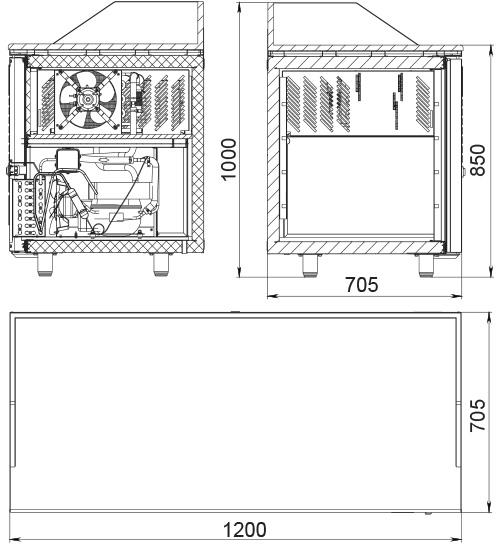 Холодильный стол POLAIR TM2GNpizza-GC - 2