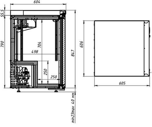 Холодильный шкаф POLAIR DM102-Bravo чёрный + замок - 3