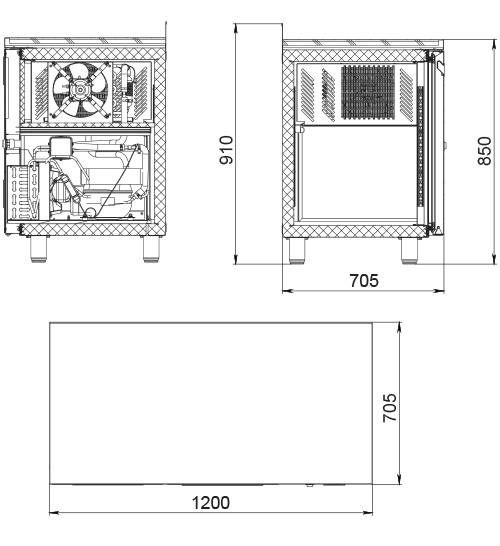 Холодильный стол POLAIR TM2GN-GC - 1