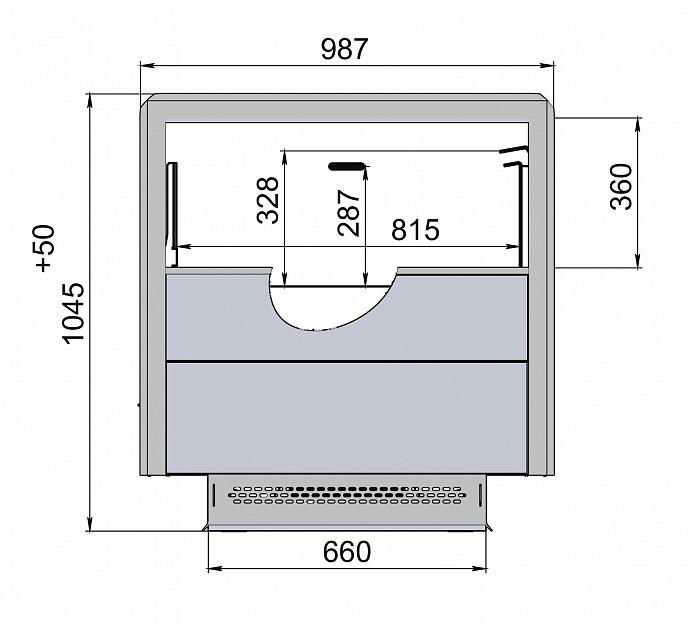 Морозильная бонета POLAIR CARINOLG Plug-in 1250-098 - 2
