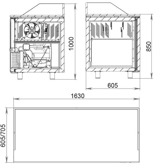 Холодильный стол POLAIR TM3pizza-G - 1