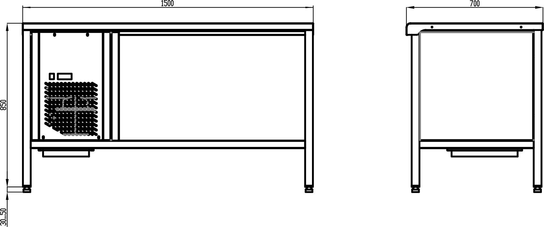 Стол с охлаждаемой столешницей POLAIR TT1.5GN-G - 1