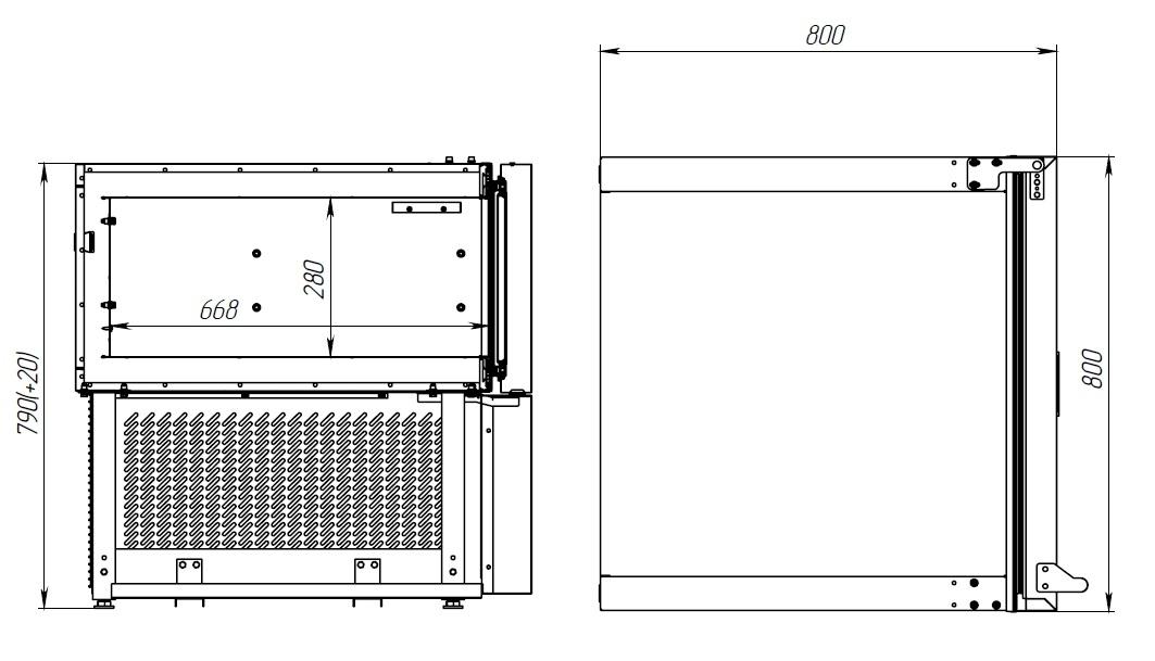 Шкаф шоковой заморозки POLAIR CR3-L - 1