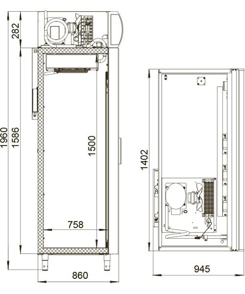 Холодильный шкаф POLAIR DM114Sd-S (ШХ-1,4) - 1