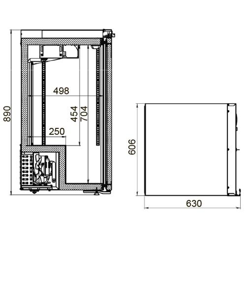 Холодильный шкаф POLAIR ШХФ-0,2 ДС - 1