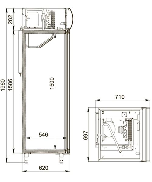 Холодильный шкаф POLAIR DM105-S 2.0 - 1