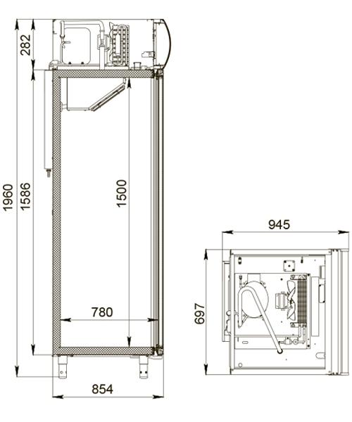 Холодильный шкаф POLAIR DM107-S 2.0 - 1