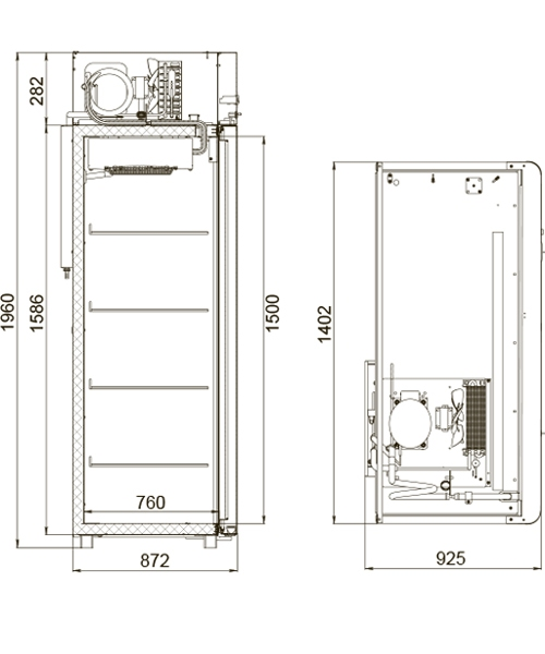 Холодильный шкаф POLAIR CV114-Gm - 2