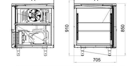 Холодильный стол POLAIR TM4GN-G - 3