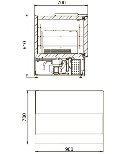 Саладетта (холодильный стол для салатов) POLAIRTMi2GNsal-G - 2