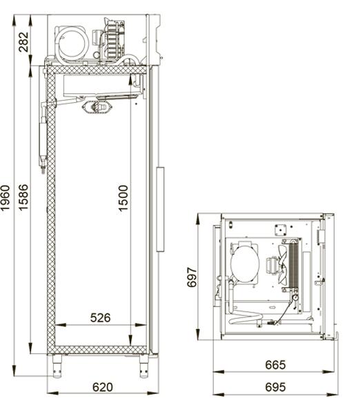 Холодильный шкаф POLAIR CV105-S - 1