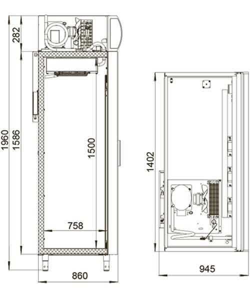 Холодильный шкаф POLAIR DM114-S - 1