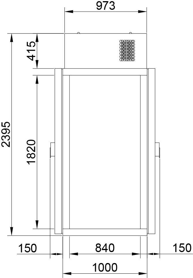 Холодильная камера POLAIR КХН-1,28 Мinicellа ММ 2 двери - 1